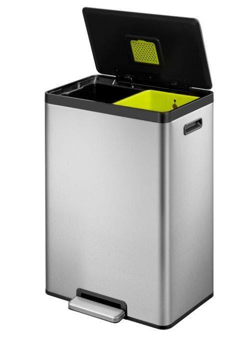 Duo Afvalbak 40 Liter Brabantia.Eko Ecocasa Ii Recycling Pedaalemmer 20 20 Liter Mat Rvs